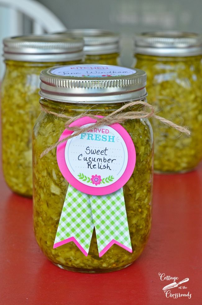 Sweet Cucumber Relish | Cottage at the Crossroads