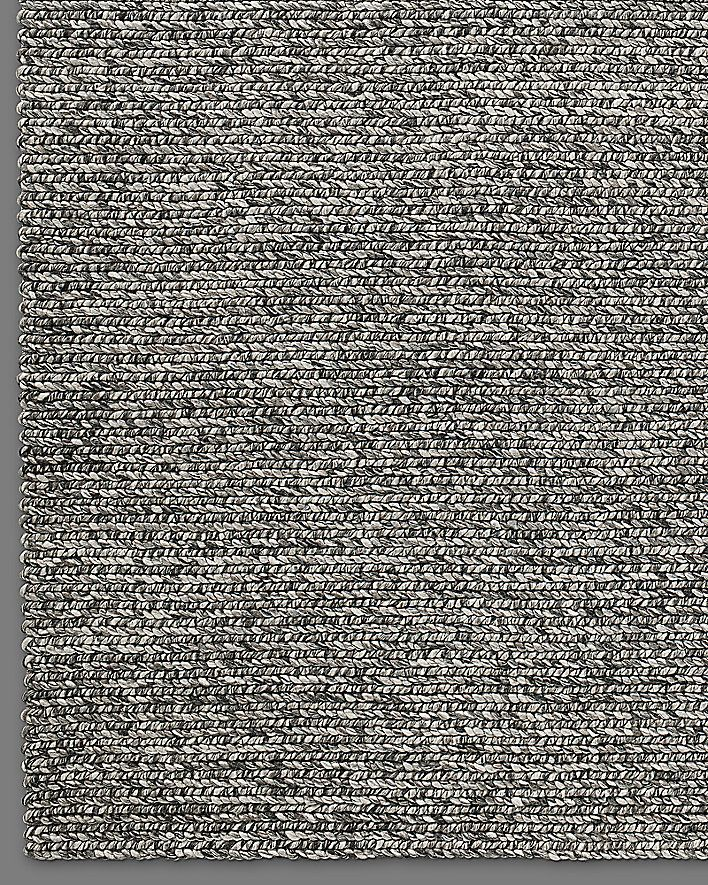 Chunky Braided Wool Rug   Graphite