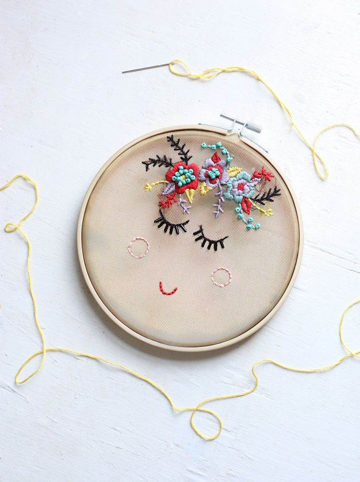 Floral Face Embroidery - The Pretty Life Girls