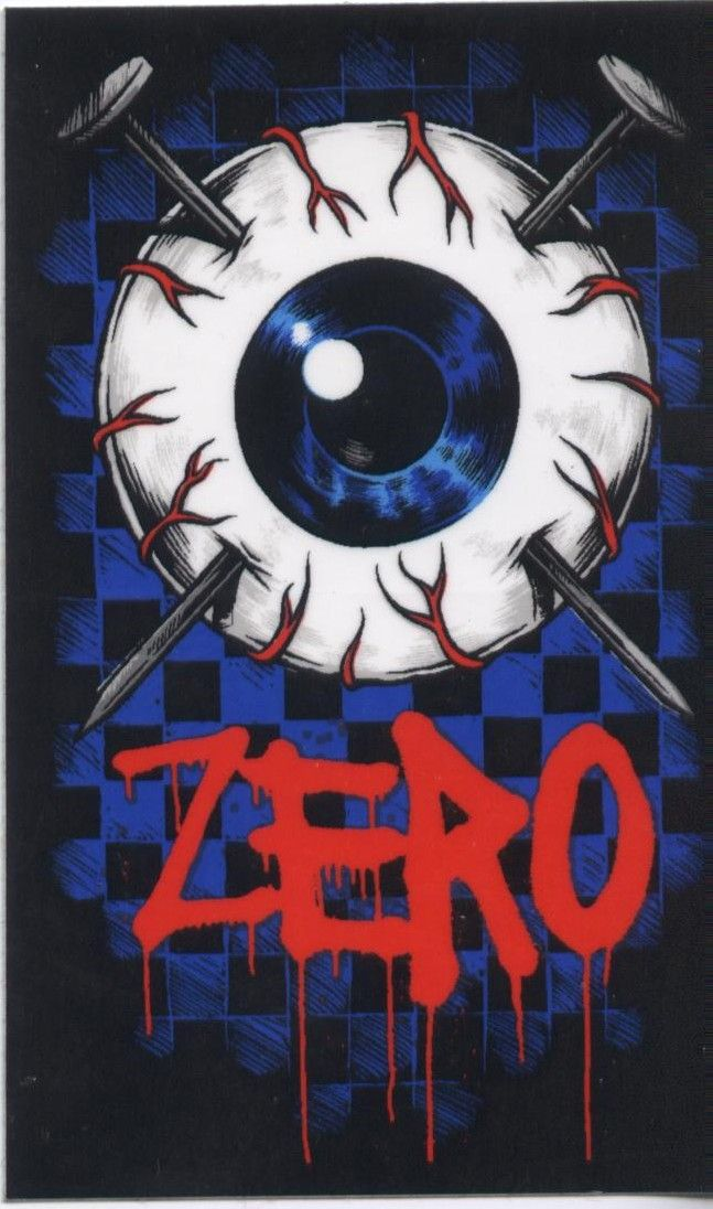 "Zero Skateboards EyeBall 3.5"" Sticker.  Click on photo to purchase."