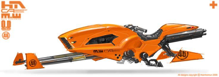 Orange Speeder Bike by NuMioH on deviantART