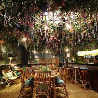 A pop-up flower show and afternoon tea at London restaurant Sketch in honour of Chelsea Flower Show.