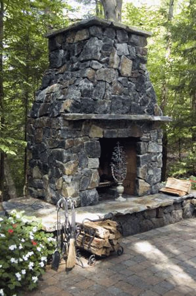 12 best outdoor mantels images on pinterest rustic for Outdoor stone fireplace designs