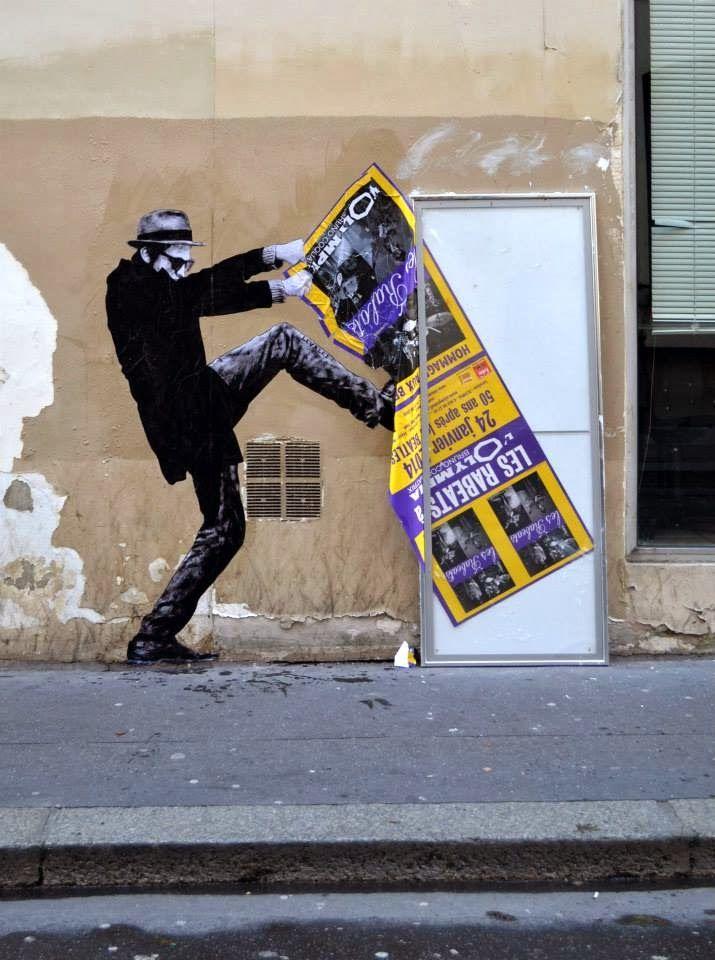 "Levalet ""Iconoclasme"" New Street Piece – Paris, France"