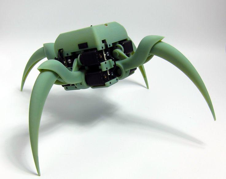 Aracna: An Open-Source Quadruped Robotic Platform aracna_v2_green.jpg (1600×1271) http://creativemachines.cornell.edu/aracna