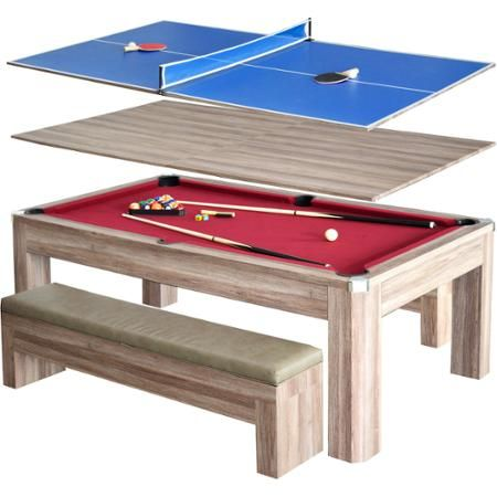 Newport 7' Pool Table Combo Set with Benches - Walmart.com