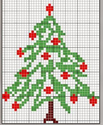 Ricami, lavori e centinaia di schemi a punto croce di tutti i tipi, gratis: Alberi di Natale