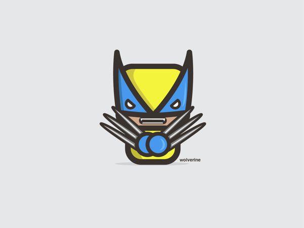 Wolverine, son! Adorable Vector Illustrations Of Pop-Culture Icons - DesignTAXI.com