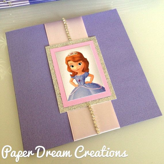 Sofia The First invites by PaperDreamCre on Etsy