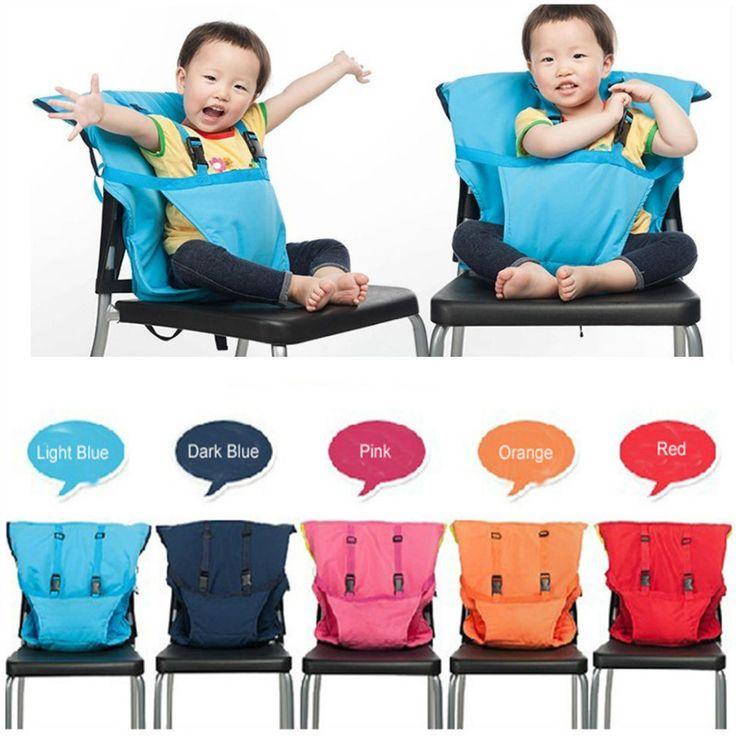 chaise haute évolutive avec harnais Portable pour voyage pliable lavable pour enfant et bébé sécurité des sièges de voiture