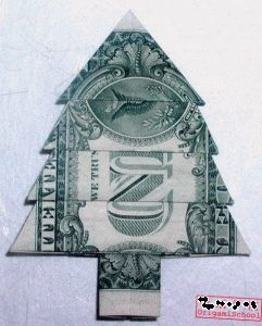 money origami Christmas tree - http://how-to-origami.com/money-origami-christmas.html