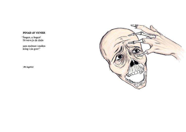 "Lagerkvists ""pinad av syner"" by Anton Krohn #illustration"