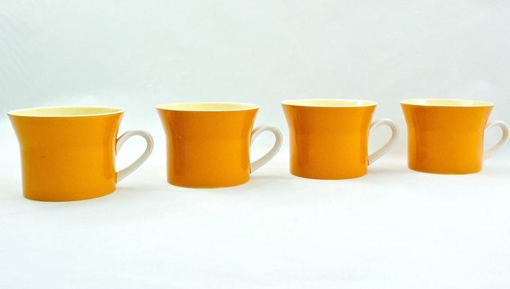 Vintage Mikasa Orange Coffee Cup, Retro Mikasa Coffee Mug, Mid Century Modern Drinkware, Vintage Tea cup, Vintage Coffee Mug, Retro Kitchen by HazelHuezDesign on Etsy