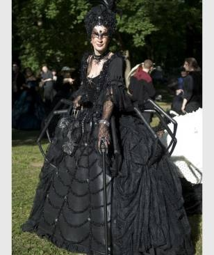"""Die """"Schwarze Witwe"""" im Spinnenkleid"""