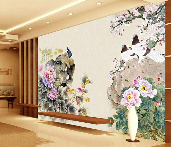 83 best papier peint asiatique images on pinterest. Black Bedroom Furniture Sets. Home Design Ideas
