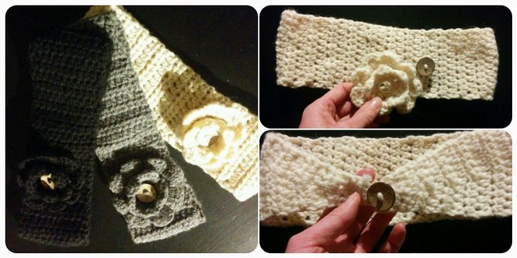 DIY crochet headband with flower / DIY hæklet pandebånd med blomst