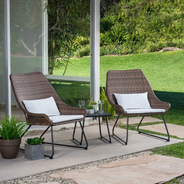 Linch 3 Piece Seating Group With Cushions Mod Furniture Patio Seating Seating Groups