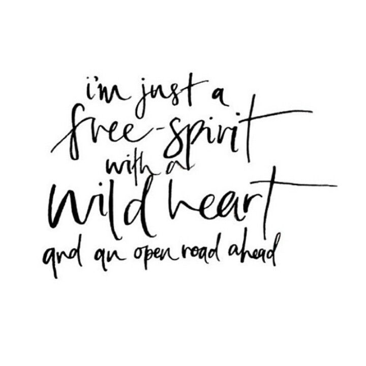 I'm just a free spirit with a wild heart                                                                                                                                                                                 More