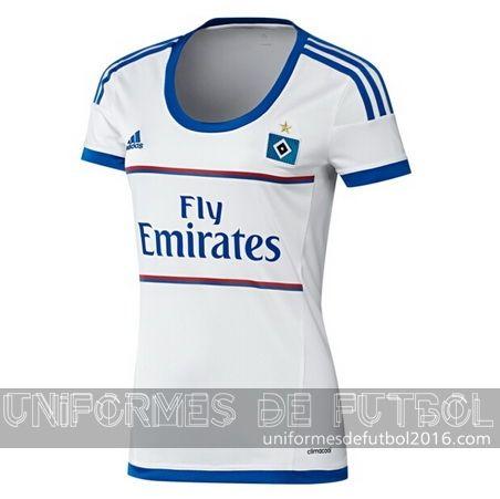 Jersey local para uniformes de futbol para mujeres Hamburger 2015-16 | uniformes de futbol economicos