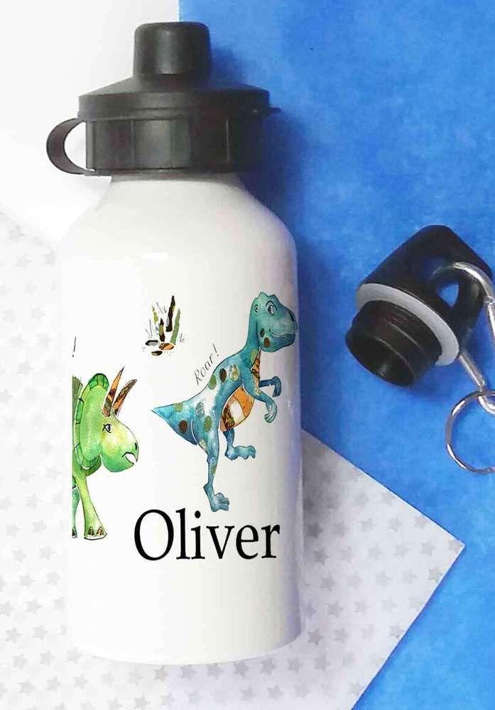 Personalised Water bottle,School Lunch Bottle,Kids Water Bottles,Dinosaur Bottle #TigerLilyPrints