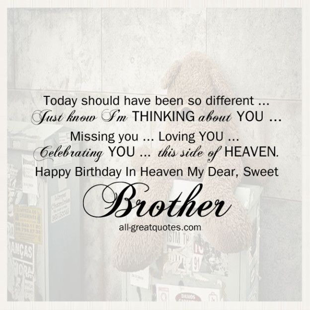 Happy Birthday In Heaven Brother Quotes