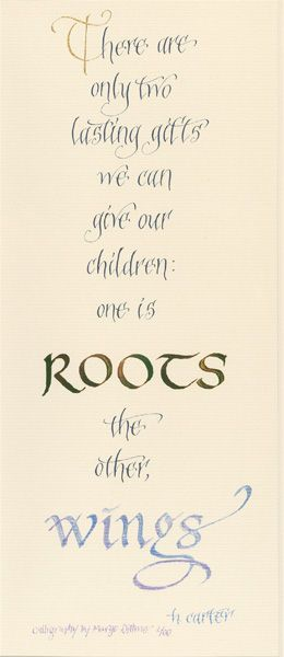 Inspirational Quotes about family trees | Poems, Quotations, Awards & Family Trees by Margo Dittmer, Lettering ...