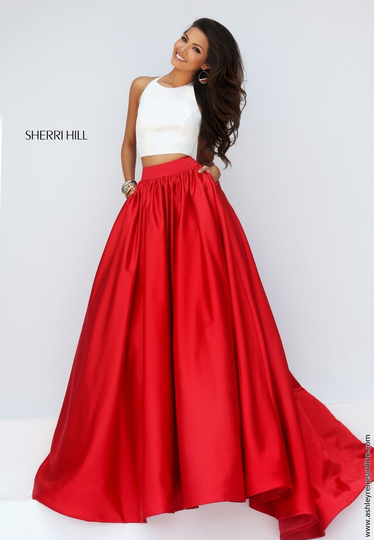 Sherri Hill red prom dress at Ashley Rene's Elkhart, IN 574-522-7766 *we ship nationwide*
