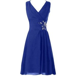 Sunvary V Neck Knee Length Chiffon Bridesmaid Prom Dresses for Wedding