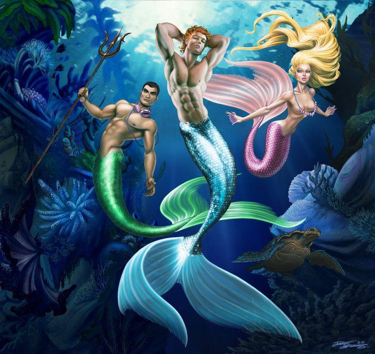 Картинки с русалками и тритонами
