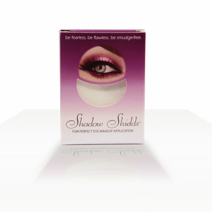 Shadow Shields - 30 piece- If you've ever struggled to apply eye shadow without ruining the rest of your makeup, then you need Shadow Shields. Shadow Shields are disposable half-moon shaped shields that are placed under the eye before applying eye shadow. The shields catch excess product and prevent smudging on your cheeks to ensure a clean application every time. $9.95 on http://www.faceandbodyshoppe.com