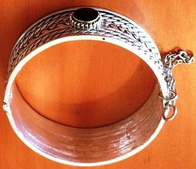 Buy Moroccan style black dot pin clasp bracelet - Diameter: 6 cm Width: 2 cmfor R180.00
