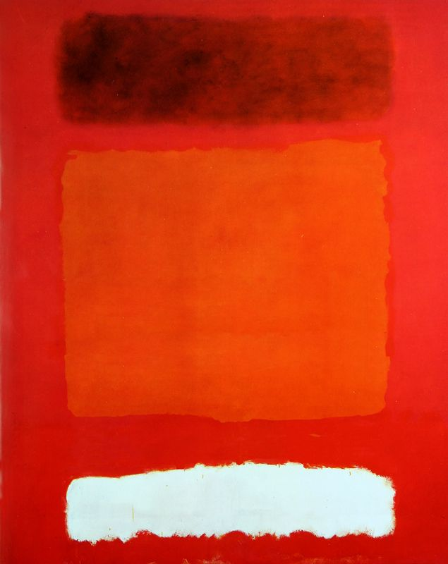 No.8 - Mark Rothko Red, White, and Brown