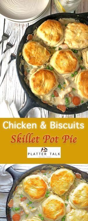 Chicken and Biscuits Skillet Pot Pie