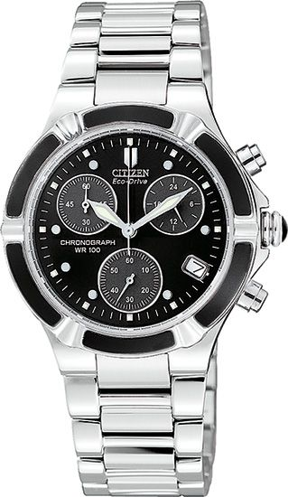 Citizen Ladies Stainless Steel Eco-Drive Riva Chronograph Watch FB1030-59E