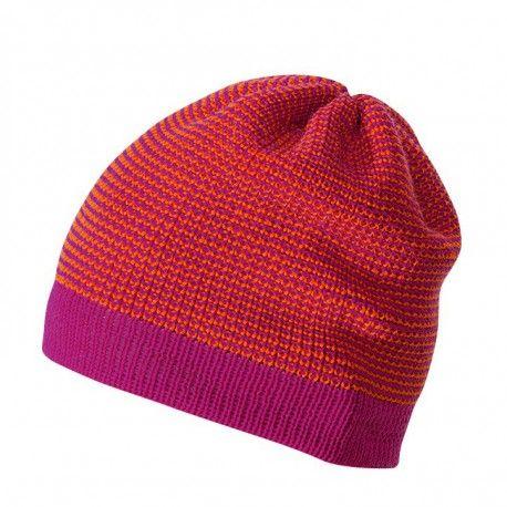 Wool beanie hat, berry cerise melange, Disana