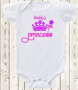 Daddy's Princess onesie Daddy's Little Girl by The1stYearBaby