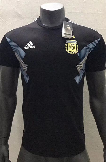 Player Version 2018 World Cup Argentina Away Black Thailand Soccer Jersey  AAA 28e5d89cc