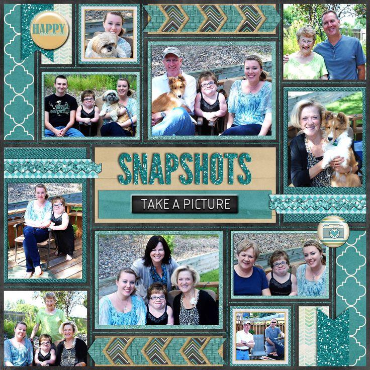Digital Scrapbook Page, Snapshots, left