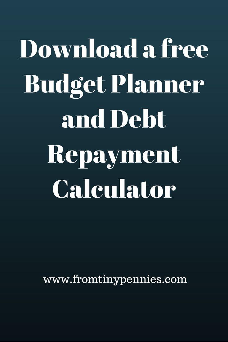 A free downloadable Budget Planner and Debt Calculator. #budget #debt #calculator #free #download (scheduled via http://www.tailwindapp.com?utm_source=pinterest&utm_medium=twpin)
