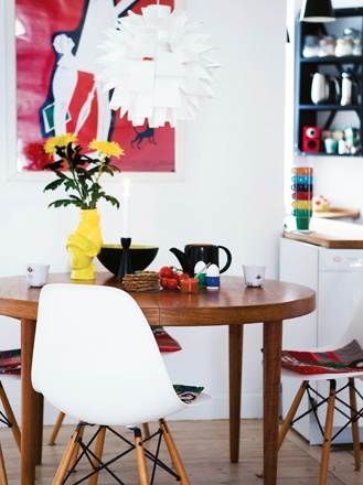 Love This Bold Pop Art Colour And Style ArtDining RoomsMid Century