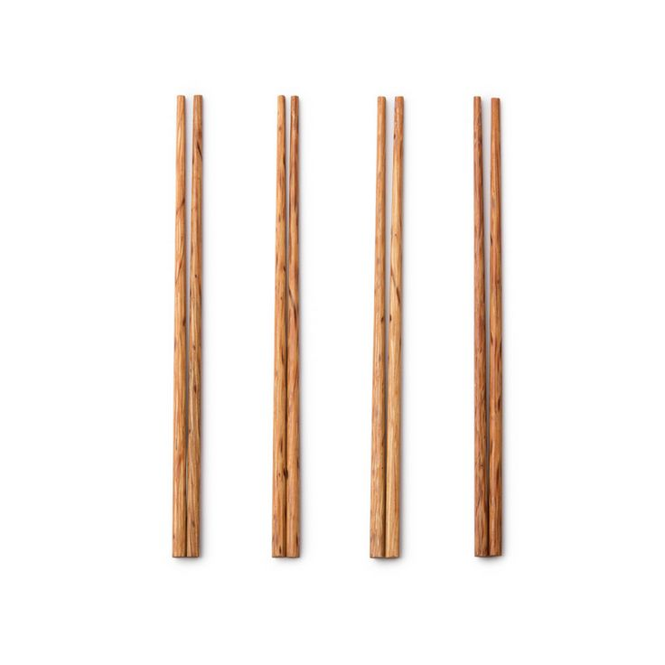 2 sets of 4 :)   These Wooden Coconut Chopsticksare perfect for digging into asian dishes. Includes 4 sets. Theyare great for every day use and great for liftingup whatever