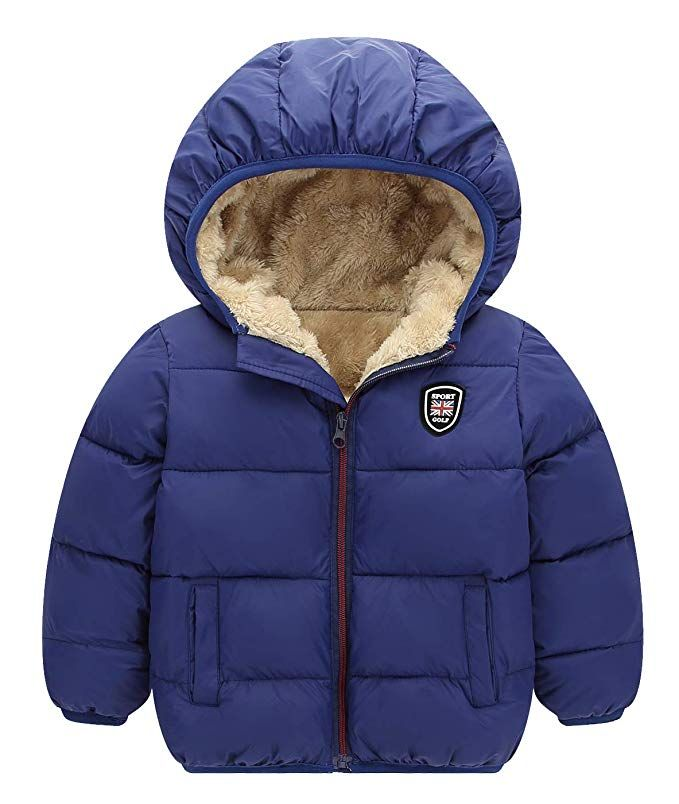 3f1325ce8aa8 Amazon.com  Happy Cherry Baby Girls Winter Puffer Coat Unisex Kids ...