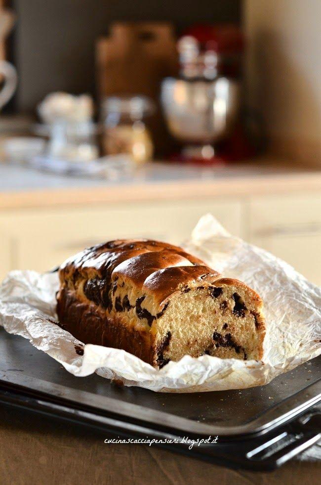 Cucina Scacciapensieri: Pan brioche al cioccolato a lievitazione naturale