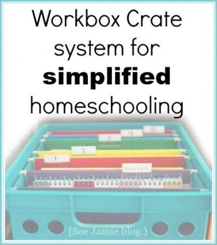 workbox crate system for simplified homeschooling