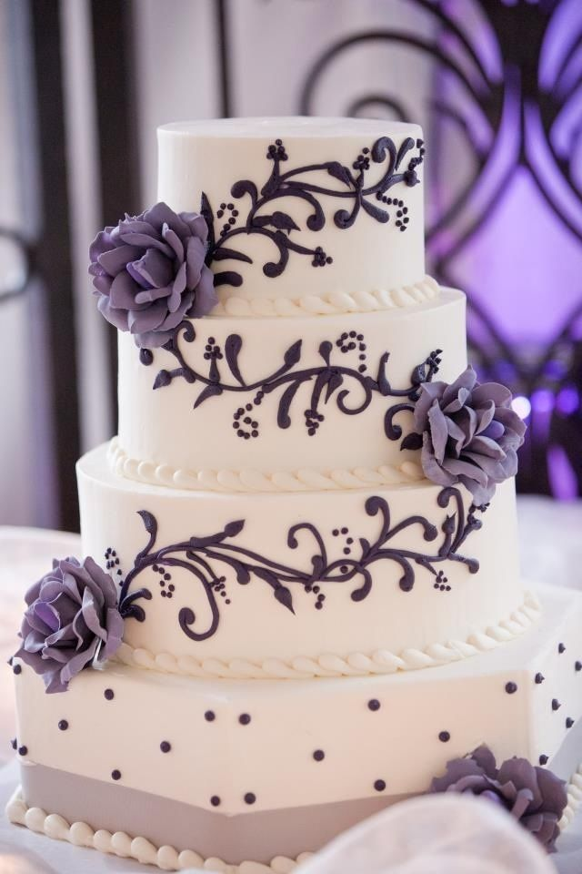 25+ cute Purple wedding cakes ideas on Pinterest Purple ...