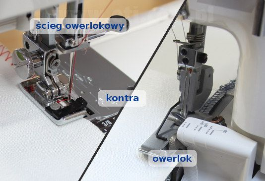 Różnica pomiędzy owerlokiem, a ściegiem owerlokowym w maszynie do szycia