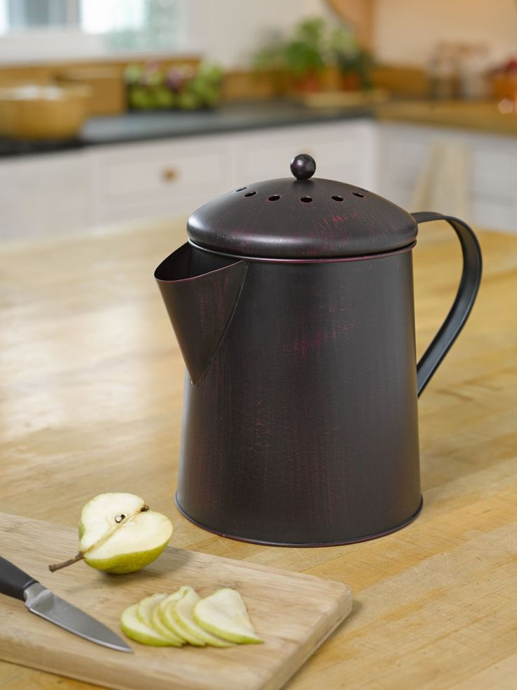 High Quality Coffee Pot Compost Pail   Kitchen Compost Pail | Gardeners.com