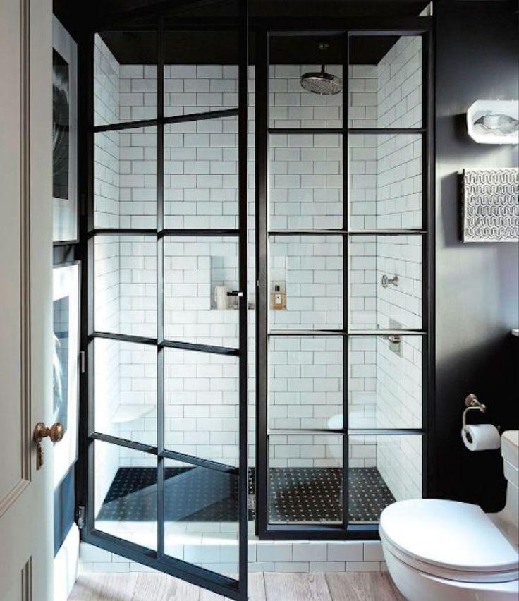 Modern Design For Framed Shower Door With Door Windows And