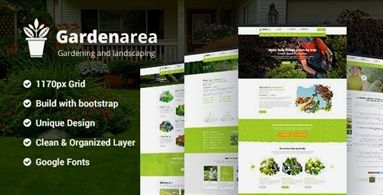 Gardenarea Gardening Lawn Landscaping Html Template Build For