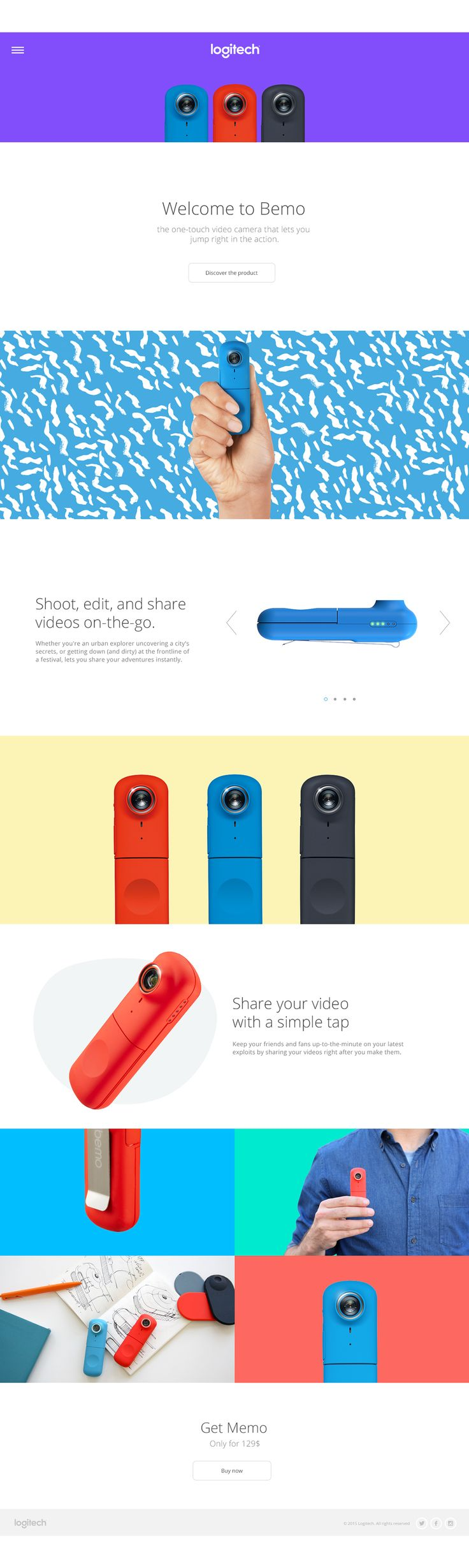 Logitech Site Design | Abduzeedo Design Inspiration